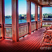 Rocking Chair Porch View Poster