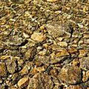 Rocks In Crystal Clear Water Poster