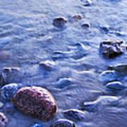 Rocks In Water Poster
