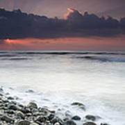 Rocky Beach At Sunrise Hawf Protected Poster by Sebastian Kennerknecht