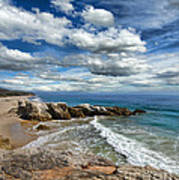 Rocky Coast In Malibu California Poster