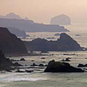 Rocky Headlands On The Big Sur Coast Poster