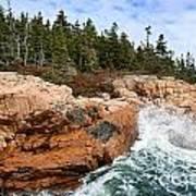 Rocky Maine Coastline. Poster