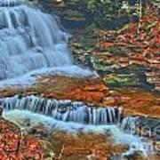 Rocky Pool Falls Poster