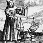 Roger Bacon Conducting An Experiment Poster