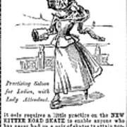 Roller Skates, 1896 Poster
