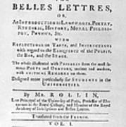 Rollin: Title Page, 1769 Poster