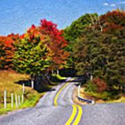 Rolling Thru West Virginia Impasto Poster