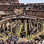 Roman Coleseum Interior Poster
