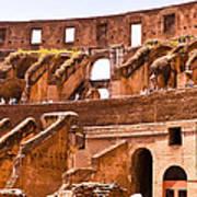 Roman Coliseum Interior Poster