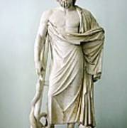 Roman Statue Of Asclepius Poster by Sheila Terry