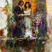 Romance In Venice  Fragment Balcony Poster
