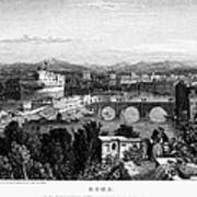 Rome: Scenic View, 1833 Poster