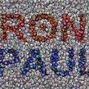 Ron Paul Button Mosaic Poster