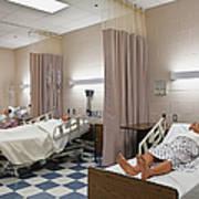 Room In Nursing School Poster by Skip Nall