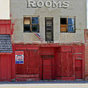 Rooms And A Beer Sign Poster by James Steele