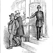 Roosevelt Cartoon, 1884 Poster