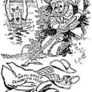 Roosevelt Cartoon, 1902 Poster