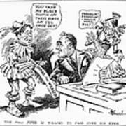 Roosevelt Cartoon, 1934 Poster