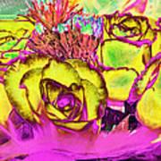 Rose Boquet Art Poster