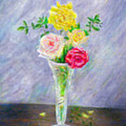 Roses In A Vase Poster