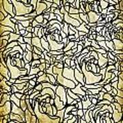 Roses Pattern Poster