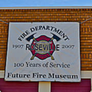 Roseville Fire Department Museum Poster