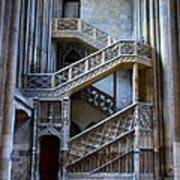 Rouen Cathedral Stairway Poster