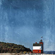 Round Island Lighthouse In Michigan Poster