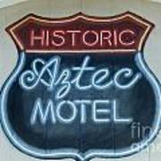 Route 66 Aztec Hotel Mural Poster