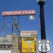 Route 66 Canyon Club Poster