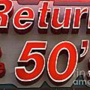 Route 66 Return To The 50s Poster