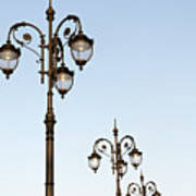 Row Of Fancy Street Lamps Poster