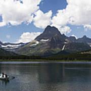 Rowboat At Many Glacier Poster