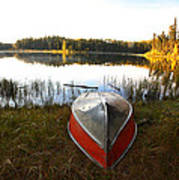 Rowboats At Jade Lake In Northern Saskatchewan Poster