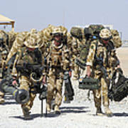 Royal Marines Haul Their Equipment Poster