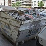 Rubbish In A Skip Poster