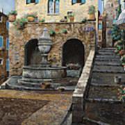 Rue Du Bresc A St Paul De Vence Poster