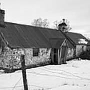 Ruined Cottage In Snow Poster