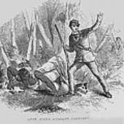 Runaway Slave With Armed Slave Catcher Poster by Everett