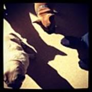 Running Around Work Barefoot Because My Poster