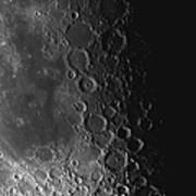 Rupes Recta Ridge And Craters Pitatus Poster