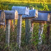Rural Mail Boxes Poster