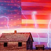 Rural Rustic America Storm Poster