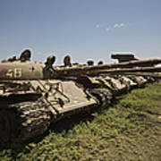 Russian T-62 Main Battle Tanks Rest Poster