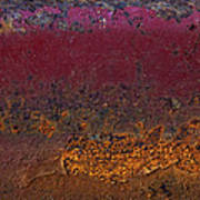 Rusted Wagon Abstract Poster