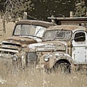 Rustic Trucks Poster