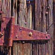 Rusty Barn Door Hinge  Poster