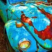 Rusty Blue Poster by Kendra Longfellow