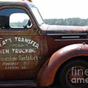 Rusty Old 1935 International Truck . 7d15496 Poster by Wingsdomain Art and Photography